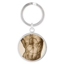 Positions of the internal organs Round Keychain