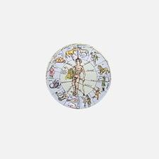 Medical zodiac, 15th century diagram Mini Button