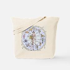 Medical zodiac, 15th century diagram Tote Bag