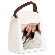 Lie detector test Canvas Lunch Bag