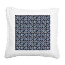 Fancy Blue And Beige Pattern Square Canvas Pillow