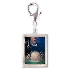 Alzheimer's disease Silver Portrait Charm