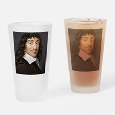 Rene Descartes, French mathematicia Drinking Glass