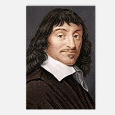 Rene Descartes, French ma Postcards (Package of 8)