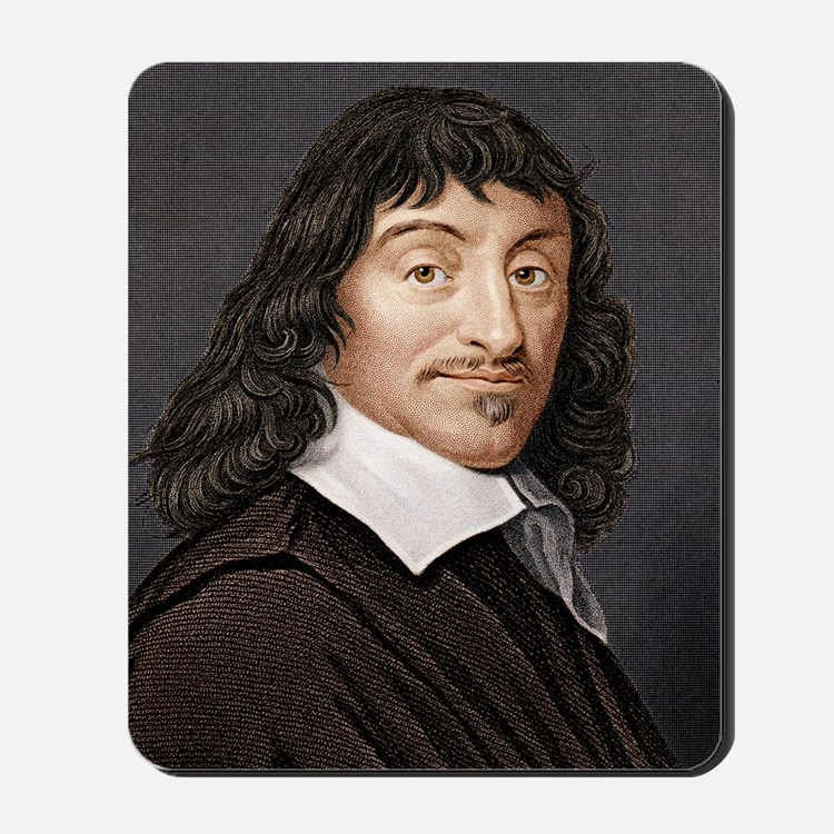 Rene Descartes, French mathematician Mousepad