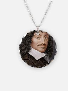 Rene Descartes, French mathe Necklace Circle Charm