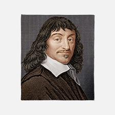 Rene Descartes, French mathematician Throw Blanket