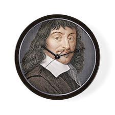 Rene Descartes, French mathematician Wall Clock