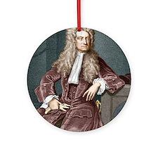 Sir Isaac Newton, British physicist Round Ornament