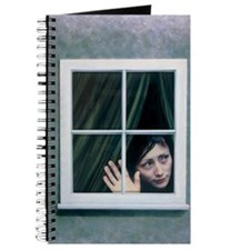 Artist's depiction of an agoraphobic woman Journal