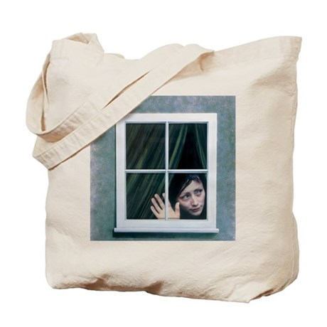 Artist's depiction of an agoraphobic woma Tote Bag
