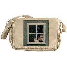 Artist's depiction of an agoraphobic Messenger Bag