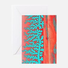 Resin patterns, light micrograph Greeting Card