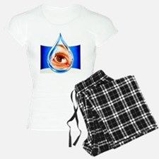 Artwork of an eye with conj Pajamas