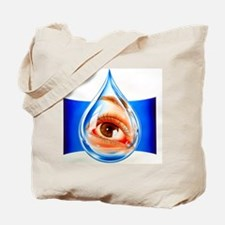 Artwork of an eye with conjunctivitis in  Tote Bag