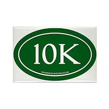 10K Running Achievement Green Rectangle Magnet