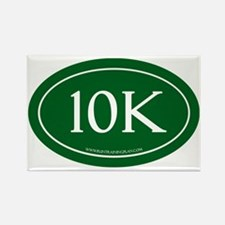 10K Running Achievement Green Rectangle Magnet