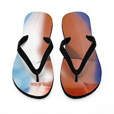 Anorexic woman Flip Flops