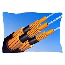 Optical fibre bundle for communication Pillow Case