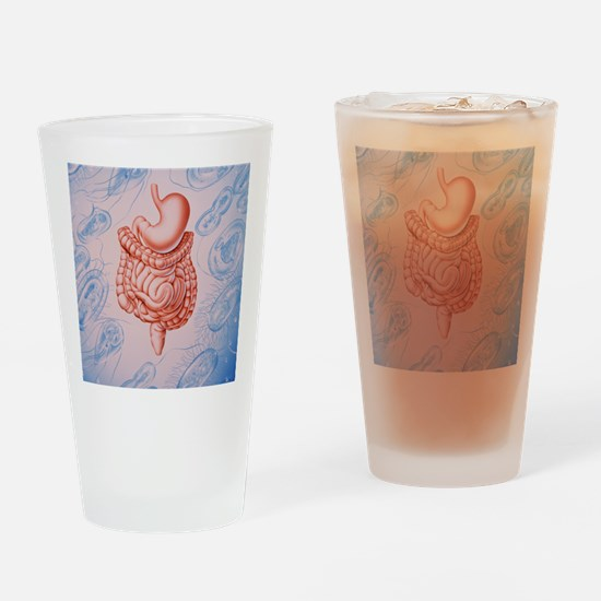 Artwork of digestive system Drinking Glass