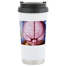 Artwork of human brain enclosed Travel Mug