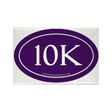 10K Run Achievement Rectangle Magnet