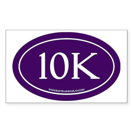10K Run Achievement Sticker (Rectangle)