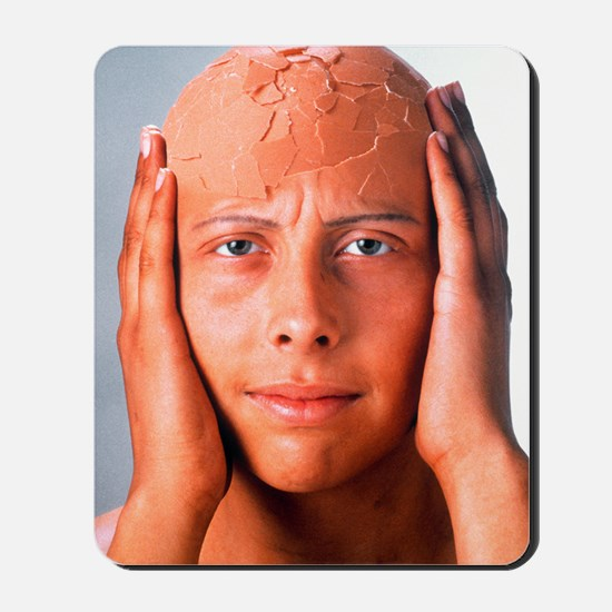 Abstract image of a person with a cracke Mousepad