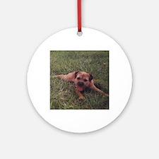 BT puppy Round Ornament