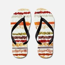 Nuts, beans and seeds Flip Flops