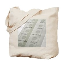 Allergy patch test Tote Bag