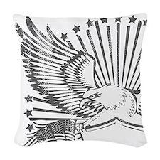 Eagle 1 Woven Throw Pillow