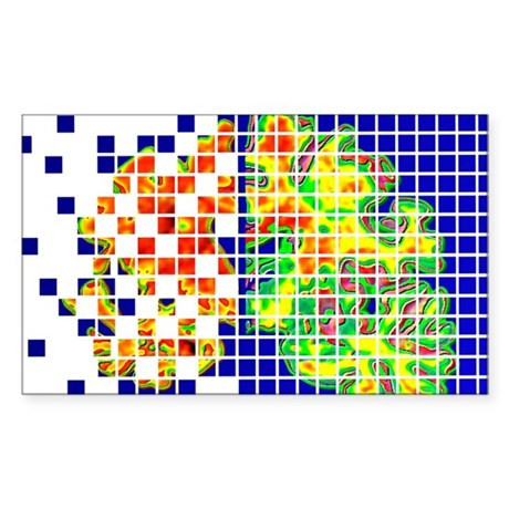 Alzheimer's disease Sticker (Rectangle)