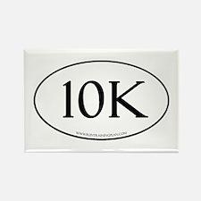 10K Running Achievement White Rectangle Magnet