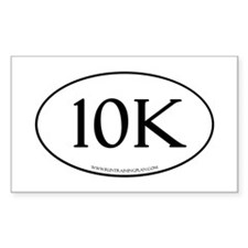 10K Running Achievement White Decal