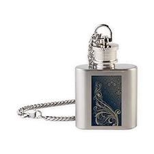 Vintage Swirls Flask Necklace