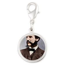 Alexander Graham Bell, telepho Silver Round Charm