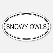 Oval Design: SNOWY OWLS Oval Decal