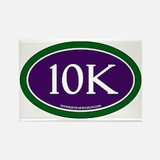10K Running Achievement Purple/Gr Rectangle Magnet