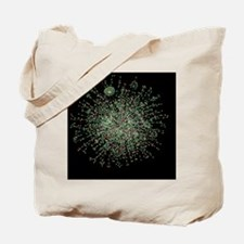 Yeast protein interaction map Tote Bag