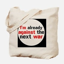 against war Tote Bag