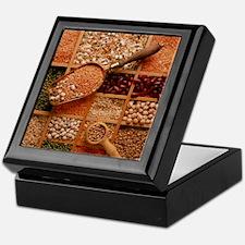 Store of various grains and pulses Keepsake Box