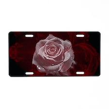 Fantasy Rose Aluminum License Plate