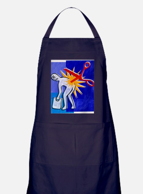 Abstract artwork depicting lower back Apron (dark)