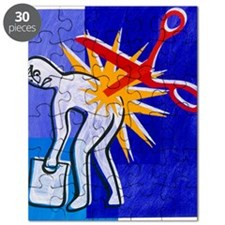 Abstract artwork depicting lower back pain Puzzle