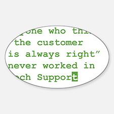 Tech support Sticker (Oval)