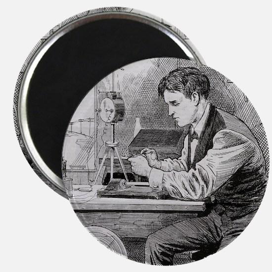 Thomas Edison, US inventor Magnet