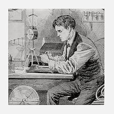 Thomas Edison, US inventor Tile Coaster