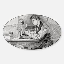 Thomas Edison, US inventor Sticker (Oval)