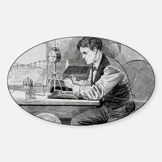 Thomas Edison, US inventor Sticker (Oval)
